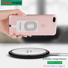 Qi Wireless Charger Receiver for iPhone 5 6 6S 7 Plus Adapter Micro Type-C Impored TI Chip Wireless Charging Charger Receivers