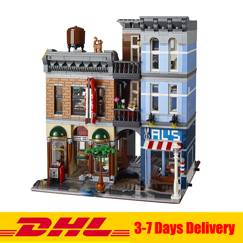 2017 MOC LEPIN 15011 City Street Detective's Office House Model Building Blocks Set Bricks Clone 10246