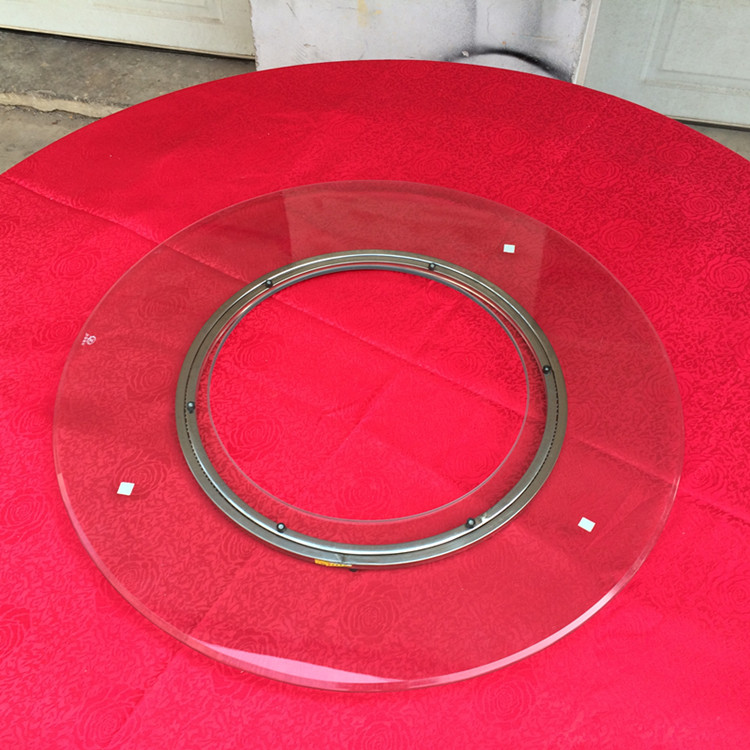 Stainless Steel Lazy Susan Dining Turntable Swivel Plate 600MM/24INCH Glass Top Heavy Duty Kitchen Furnitures