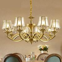 Retro Villa copper chandelier Antique led chandelier lamps Italy vintage chandeliers penthouse Hotel living room hanging lights