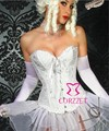 Sexy Pleated Trim Steel Boned Corset Bridal Corset & Bustier Fashion Women Waist Slimming Corsets