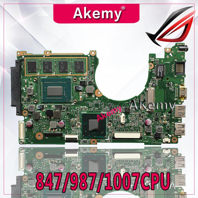 Akemy Laptop Mainboard X202E for ASUS X201e/S200e/X201ep-test/Original 2g-Ram 987/1007CPU