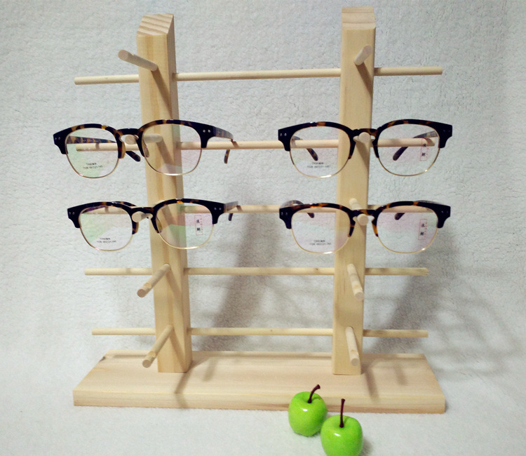 Lovely Glasses Display Shelf Wooden Eyeglasses Stand Holder Sunglasses Rack Show  10 Pairs Eyewear Holde Double Row In Jewelry Packaging U0026 Display From  Jewelry ...