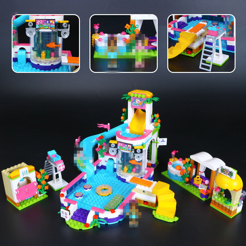 Lepin 01013 New Girls Series The Heartlake Summer Pool Set 41313 Educational Building Kit Blocks Bricks Compatible Toys Gift new lp2k series contactor lp2k06015 lp2k06015md lp2 k06015md 220v dc