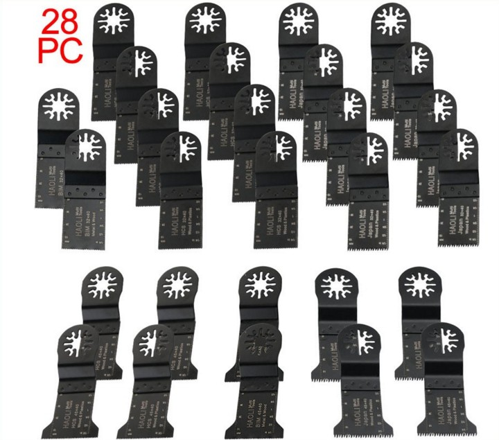 28 pcs Oscillating Multi Tool saw blades fit for TCH,Fein,Dremel RENOVATOR tool,DIY power tool accessories at home,cut metal wg05267 real leather top quality luxury handbags women bags designer bags handbags women europe brands