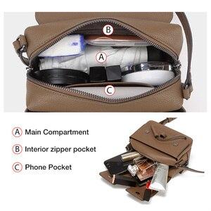 Image 5 - FOXER marka damska torba nowa moda Split skóra Crossbody torba torba dla kobiet kobiet torby na ramię