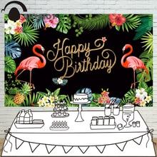 Allenjoy fotografia sfondo flamingo foresta pluviale tropicale di compleanno personalizzata blakboard stampante fotografica design originale