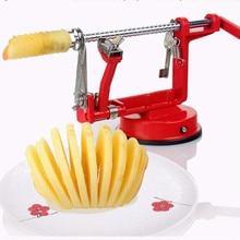 3 en 1 apple peeler de la fruta peeler máquina rebanadora/apple fruta máquina de pelado de acero inoxidable herramienta de la cocina casera creativa