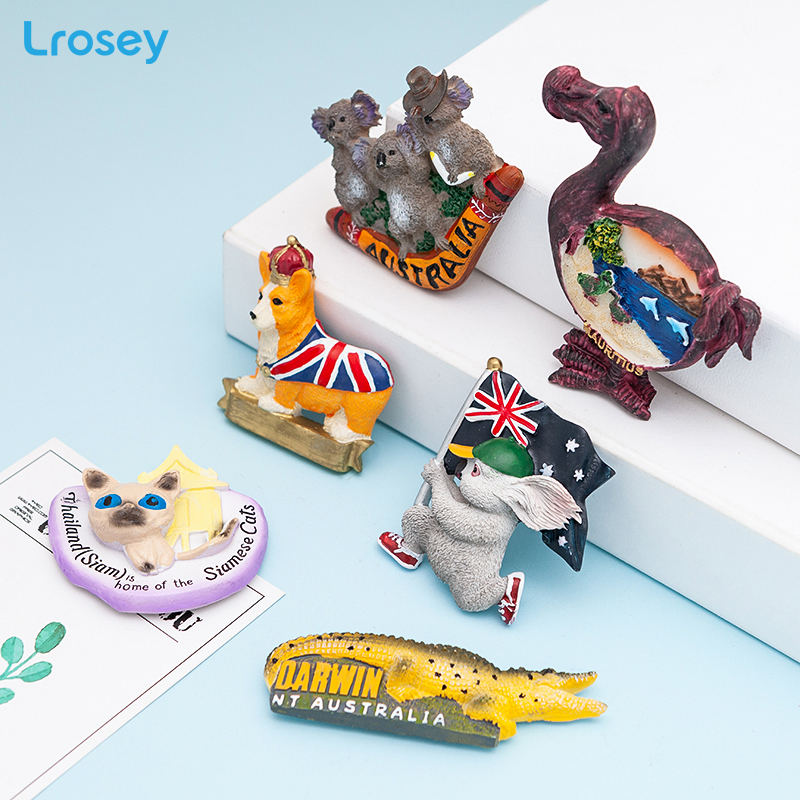 3D Animals Fridge Magnet Souvenir Cat Dog Magnets For Refrigerators For Home Decoration Accessories Koala Refrigerator Magnets
