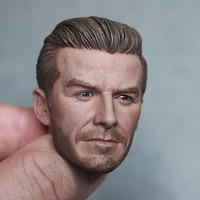 1/6 Scale Male David Beckham Middle Age Version Head Carving Sculpt Version Model Short Hair Headplay for 12 Action Figure Body