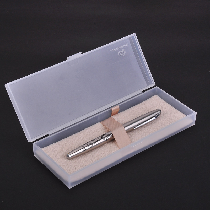 Jinhao 911 Dragon Fountain Pen High Quality Silver Steel Metal Ink Pens with 0.38mm Extra Fine Nib for Finance with Gift Case luxury christmas gift jinhao oriental dragon metal fountain pen with 0 5mm nib gold dragon clip ink pens with original gift case