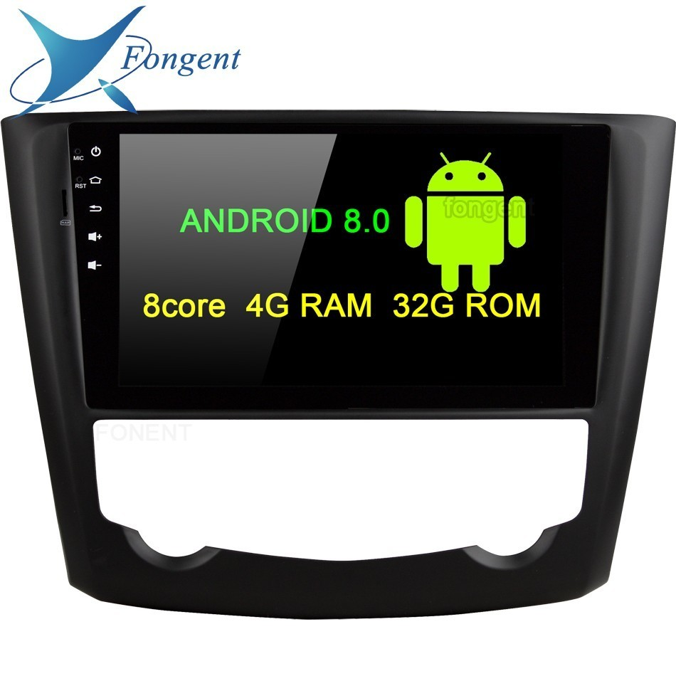 Android 8.0 4 gb RAM 8 core 32g Voiture DVD Lecteur GPS Glonass Carte RDS Radio wifi Bluetooth DVR caméra TV Pour Renault Kadjar 2015 2016