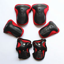 1Set Wrist Support Protection riding biking skating Knee pads & Elbow pads set 6 in 1,for Adults sports safety