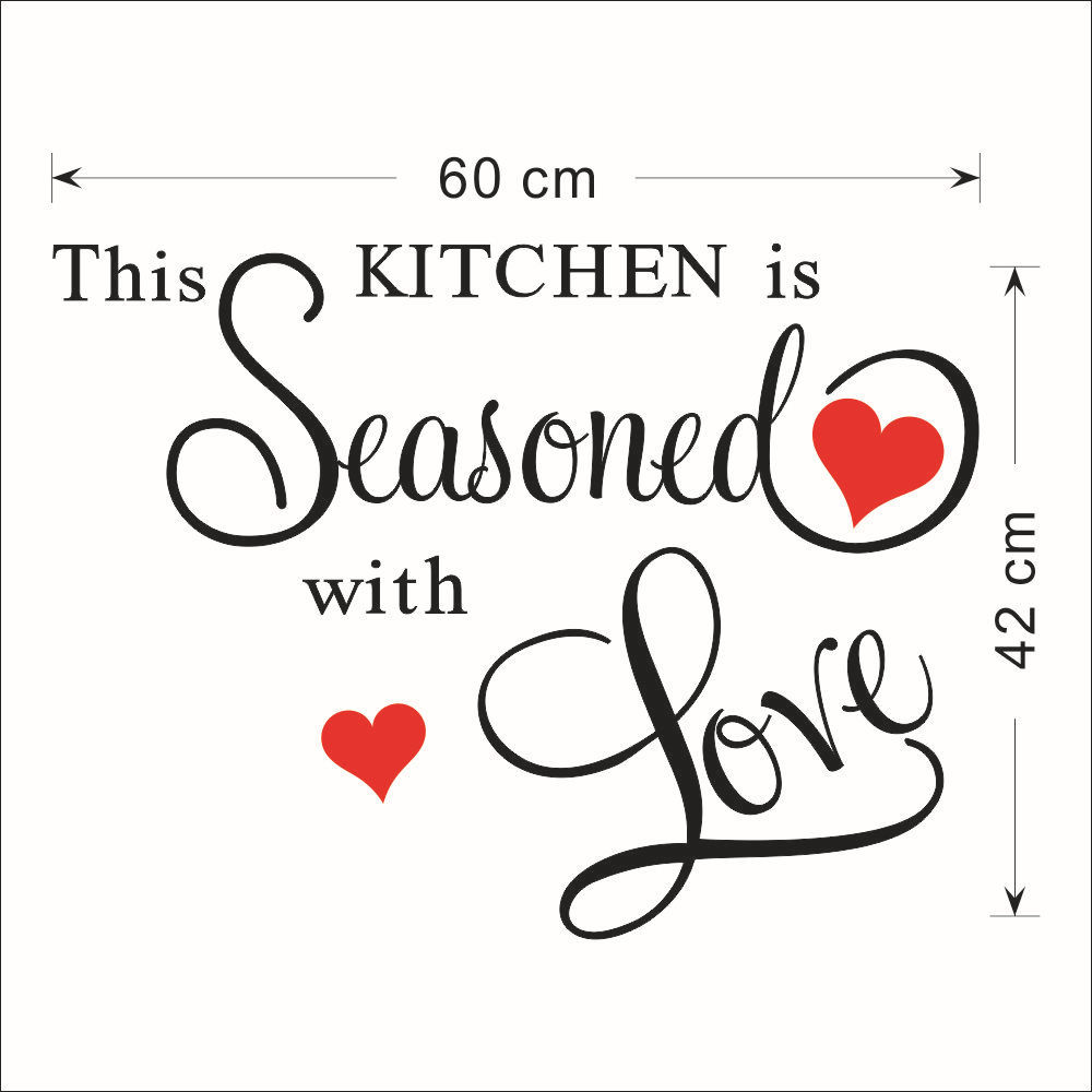 red heart large quote wall stickers kitchen decor home letter decoration removable vinyl wall decals art decorative wall quotes in wall stickers from home