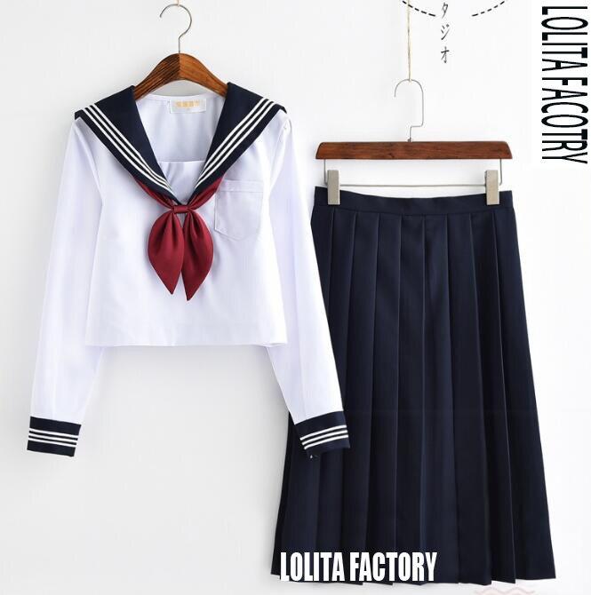 Academic Wardrobes Reviews: Japanese Orthodox Soft Girls JK Uniform Skirt, Sailor