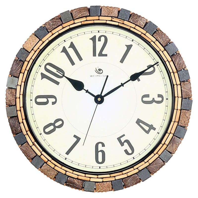 Horloge murale de personnalité pastorale de mode créative horloge murale en verre de pays américain grande table de 18 pouces