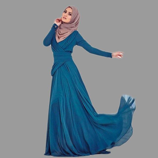 a446cd7535b6 Formal Turkish Women Clothing A-Line Evening Dresses Regular Sleeve  Floor-Length Islamic Kaftans