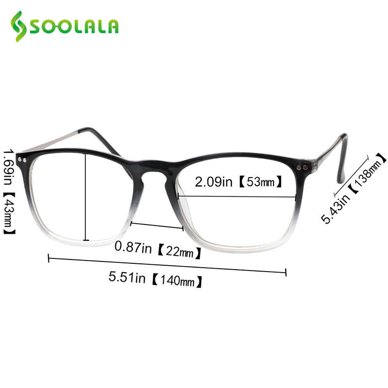 00f1ad7e477c ... SOOLALA Oversized Womens Mens Full Rimmed Reading Glasses Large Horn  Clear Lens Eyeglass Frame Reading Glass ...