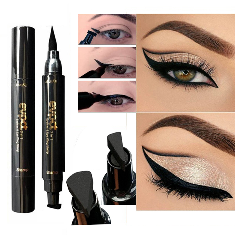 Back To Search Resultsbeauty & Health Lovely Double Head Liquid Eyeliner Pencil Seal Stamp Makeup Quick Dry Waterproof Wing Eye Liner Eye Pencil Beauty Set Black Eyeliners