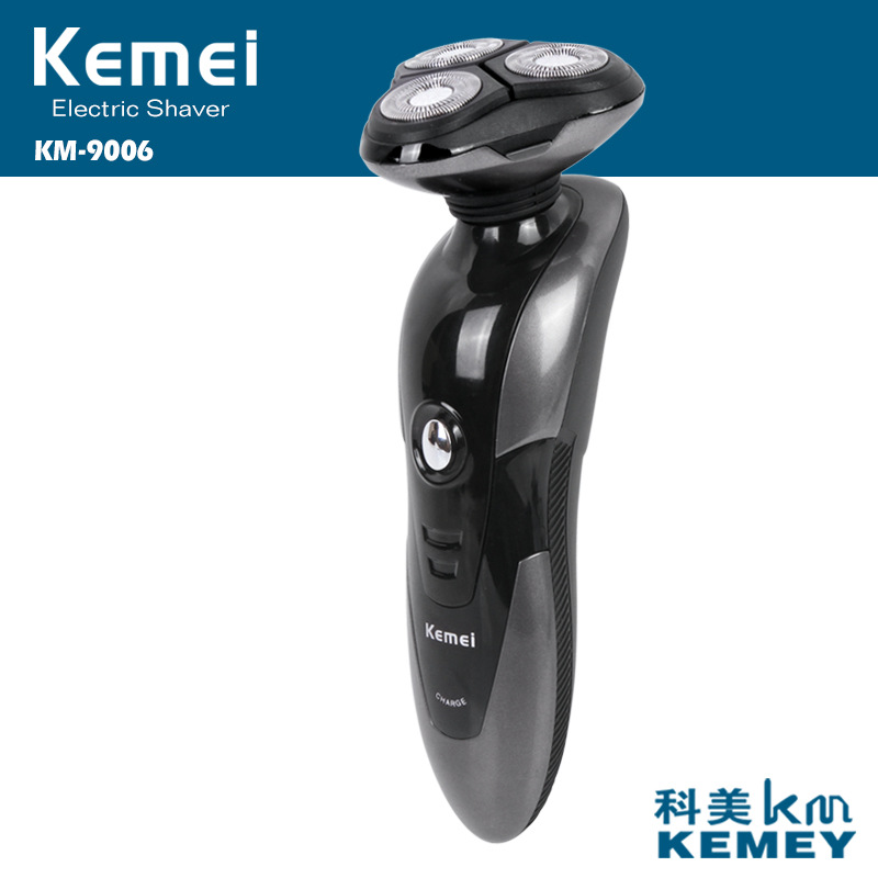 цена на rechargeable 3D triple blade electric shaver shaving machine eletrico kemei electric razor for men beard trimmer