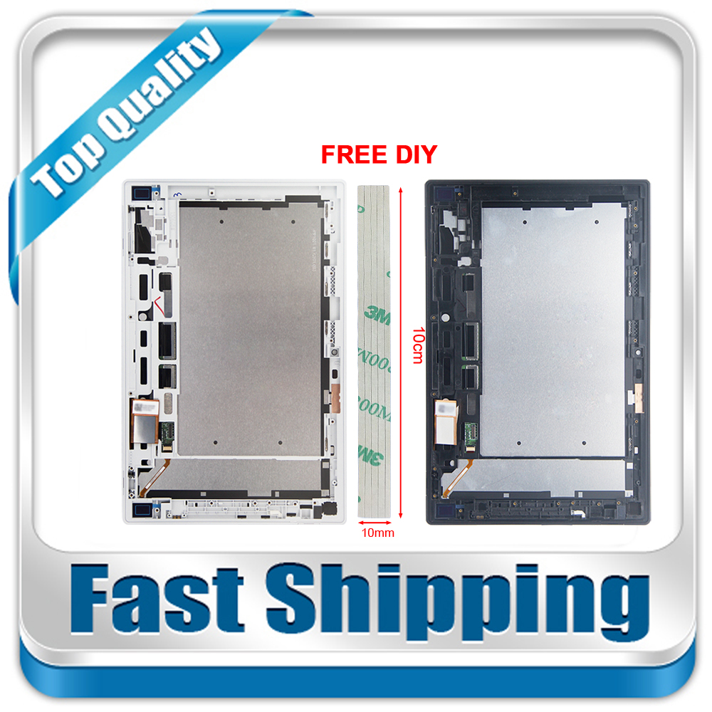 New For Sony Xperia Tablet Z 10.1 SGP311 SGP312 SGP321 Replacement LCD Display Touch Screen+Frame Assembly цена