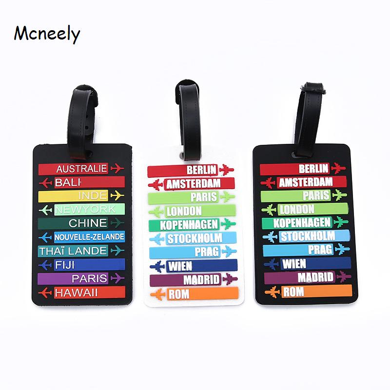 Countries Name Travel Luggage Tag Identifier Label ID Address Holder Protection Suitcase Tags Travel Accessories Portable Label