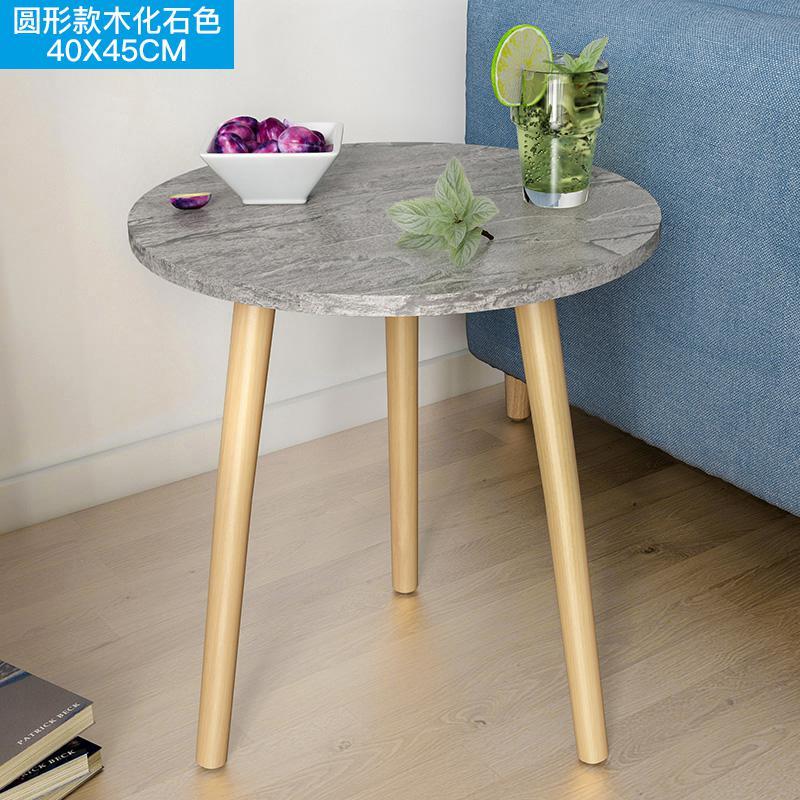 Скандинавский журнальный столик для гостиной, современный минималистичный чайный столик из твердой древесины, многофункциональный чайный столик - Цвет: Style 7