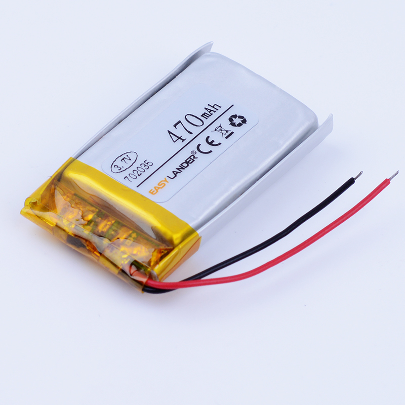 702035 3.7V 470mAh Rechargeable li Polymer Battery For mp3 mp4 GPS DVR texet tools Watch Children's phone speaker 072035 xhr 2p 2 54 800mah 802035 point reading pen bluetooth speaker school paper 3 7v polymer battery 702035