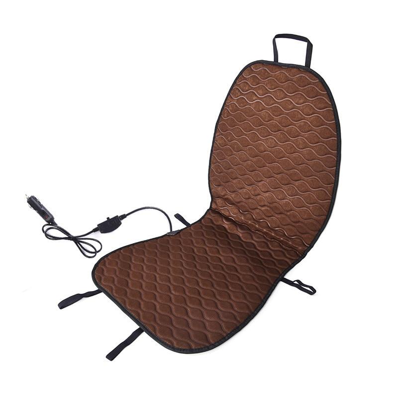 Brown Car Single Seat Heating Pad Heating Mat Heating Cushion Composite Fiber Pile Cushion