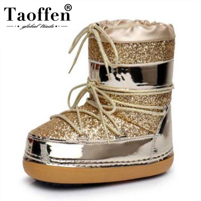 Taoffen/зимние сапоги, зимние ботильоны, женская обувь, теплые меховые сапоги, женская повседневная обувь, большие размеры, на платформе, нескол...