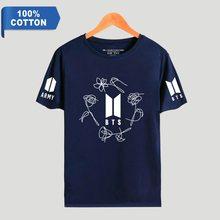 BTS Army 100% Cotton T-Shirts (Blue & Pink)