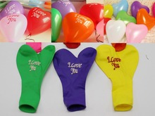 50pcs 10 Mixed ColorI Love You Heart Latex Balloons Celebration Party Wedding