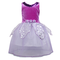UK Sleeveless Girls Party Formal Wedding Princess Bridesmaid Christening Dress