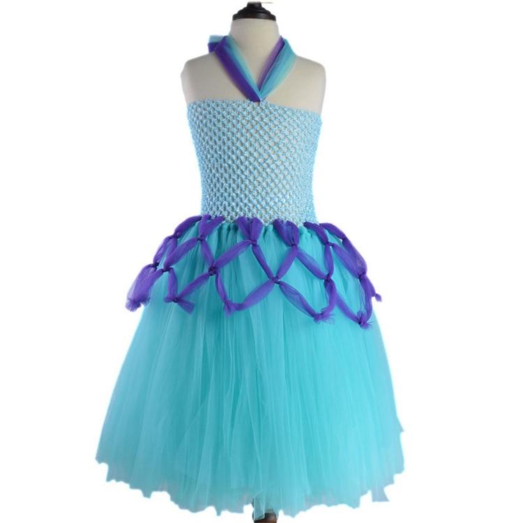 Light blue summer dress 2 3 4 5 6 7 8 9 years designer little girl tutu dress clothing children long dresses wedding gowns kids