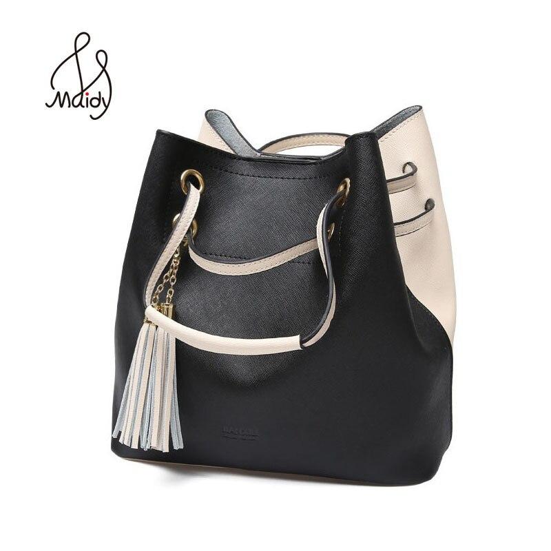 Sacs en cuir véritable de luxe pour femmes épaule en forme de tonneau fourre-tout décontracté sacs en cuir canaux sacs à main fourre-tout ensemble de Pochette