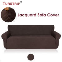 Turetrip 1PC Solid Sofa Cover For Sofa Bed Futon Slipcover Stretch Furniture Protector For Chair Loveseat Large Sofa Case