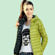 New Winter Warm Women Parka Long Sleeved Thin Cotton-Padded Jacket  Hooded Parka Outwear Women