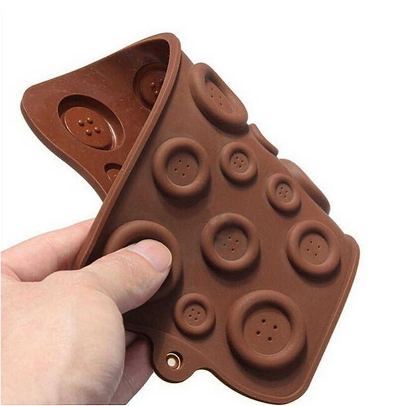 1 pz Fondente Della Muffa Del Sapone Grande Piccoli Pulsanti di Cioccolato Muffe Della Torta Del Biscotto Della Muffa Del Cioccolato Button Forma Stampo In Silicone