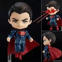 2017 Batman V Superman Action Figure Model Toys Nendoroid DC Superman Figuras Dolls Kids Movie Cosplay Gift 10cm
