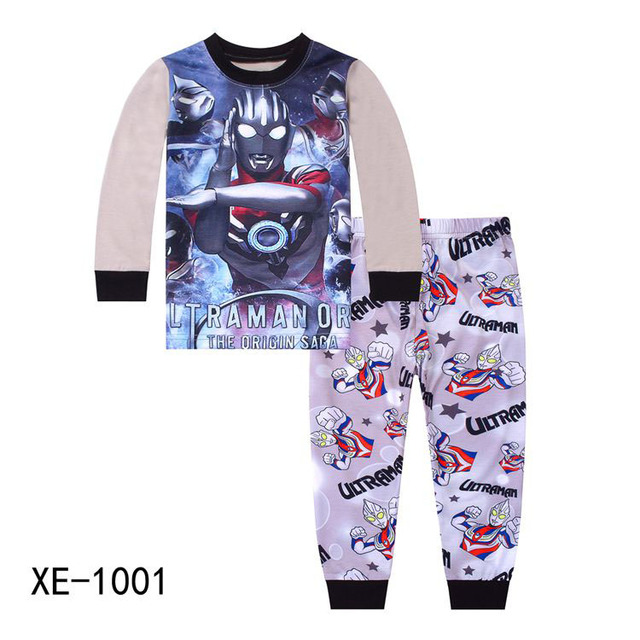 c4d69a94c572 Wholesale Boys Grey Ultraman Pajamas Sets 2018 Kids Cartoon Pajamas  Children Summer Pyjamas Sets For 2-7Y XE-1001 1002
