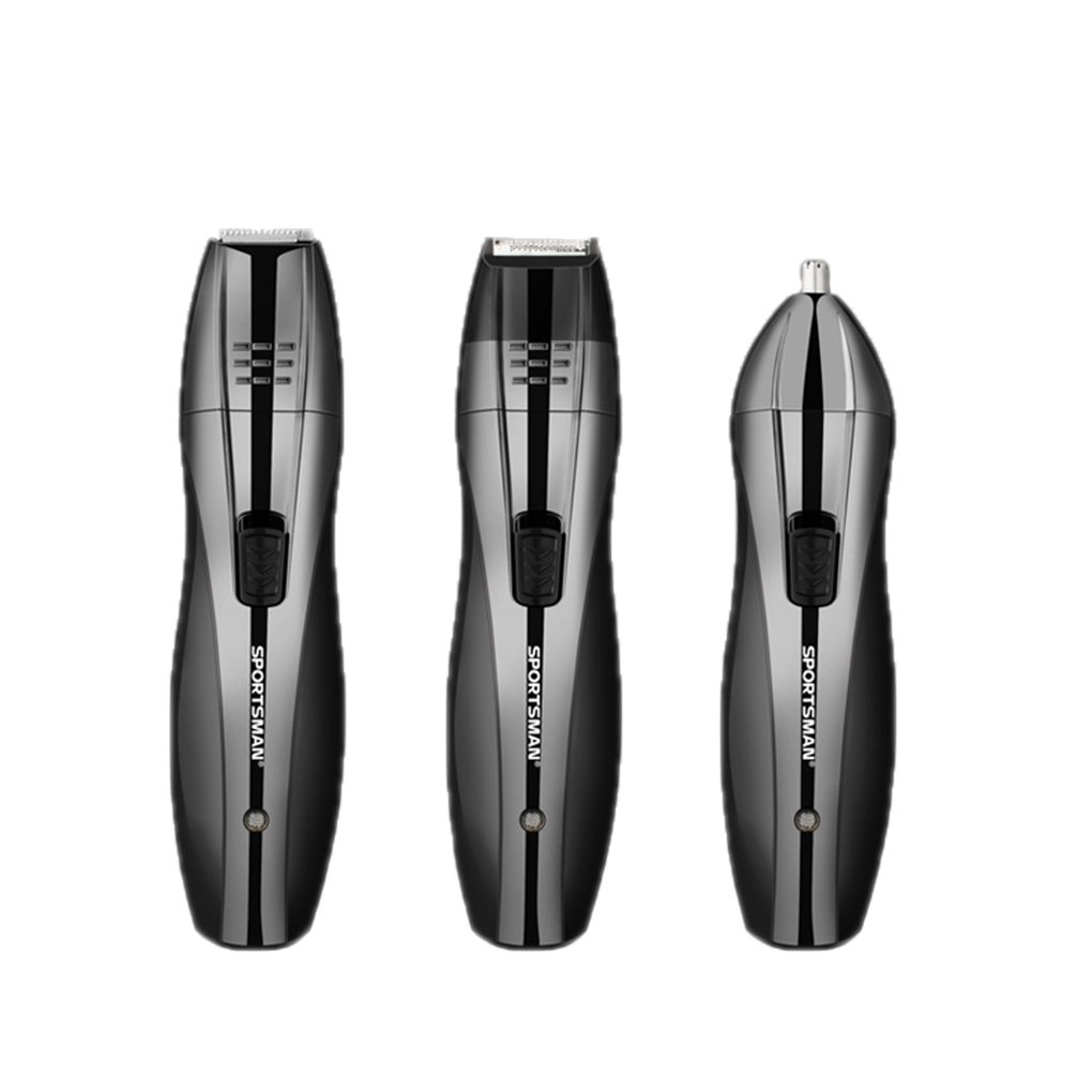 3 in 1 Men Sideburns Beard Ear Nose Hair Remover Epilator Trimmer Electric Shaver Kit EU ...