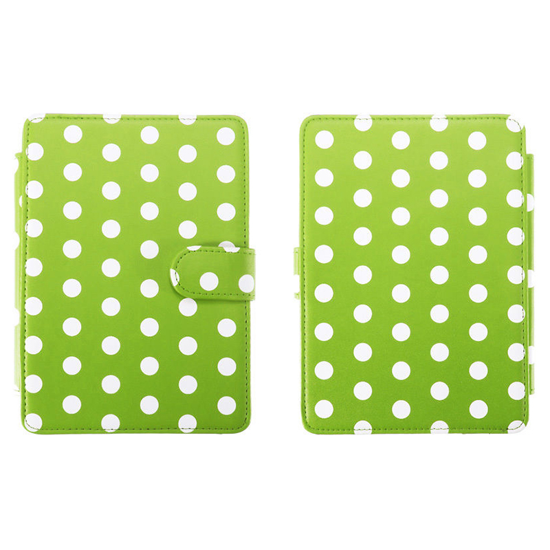 MOOL Magnetic PU Leather Cover Case Slim for Amazon Kindle Paperwhite (Round Dot, Green)