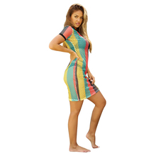 Misstyle New Arrival Women Fahion Casual Pencil O-neck Short Sleeve Summer Mini Dress Sexy Bodycon Bandage Beach Dress vestidos