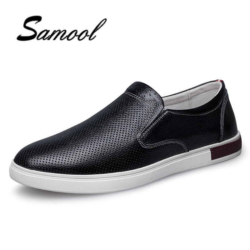 2018 Summer Cool Autumn Breathable Mesh leather Men Shoes Lightweight Men Flats Fashion Casual Male Shoes Brand Men Loafers lx5 spring autumn fashion men high top shoes genuine leather breathable casual shoes male loafers youth sneakers flats 3a