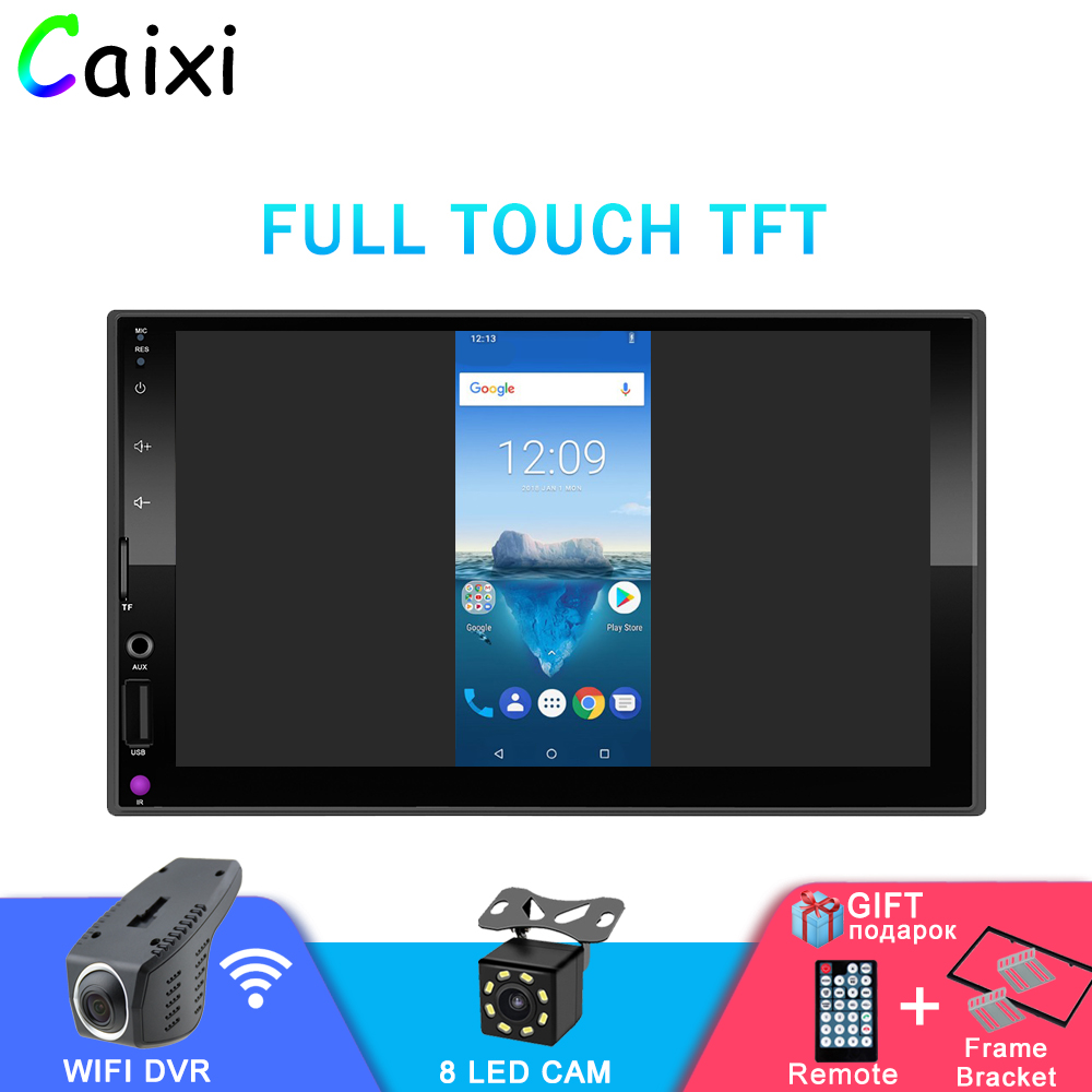 2 DIN 7inch Android And Iphone Mirror Link Car Multimedia Player Bluetooth FM Radio Player Vehicle