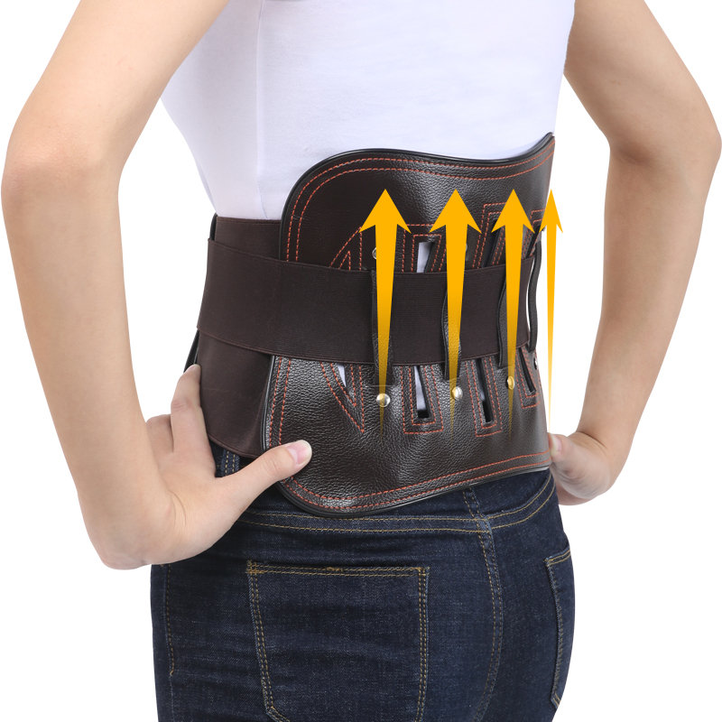 4 Steel Splint Spontaneous Heating Lumbar Waist Back Support Belt Detachable Spontaneous Heating Pad Support Medical Fixed Belt