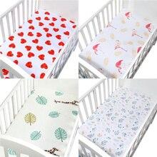 Органический хлопок простынь для детской кроватки Мягкий чехол покрывало тканый чехол для постельного белья детская кроватка для младенца простыня