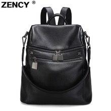 Фотография Zency Woman Travelling Backpack Luxury Brand Genuine Leather Women
