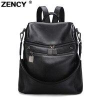 Zency Woman Travelling Backpack Luxury Brand Genuine Leather Women S Backpacks Ladies Girl S School Bag