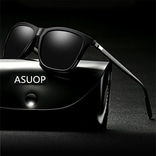 NewTR90 square polarized men's sunglasses UV400 anti-radiati